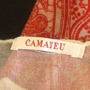 Camieu Accessories - 🍀 Camieu   Red Patterned Scarf